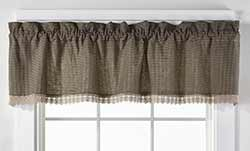 Ava Black Check & Lace Valance