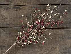 Burgundy, Olive, & Cream Pip Berry Spray