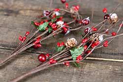 Winter Berry 12 inch Pick