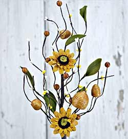 Sunflower & Beehive Floral Spray