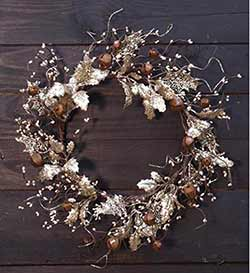 Vintage Glittered Wreath with Holly & Bells