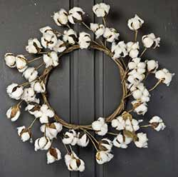 Cotton Ball 22 inch Wreath