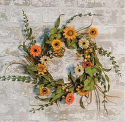 Harvest Daisy 12 inch Wreath