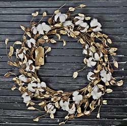 Cotton & Shell 20 inch Wreath