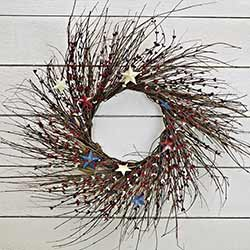 Americana Pip Berry & Twig Wreath