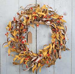 Bittersweet & Fall Herbs 20 inch Wreath