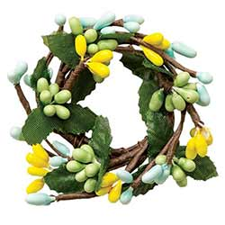 Yellow, Blue, & Mint Pip Berry Ring - 1 inch