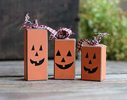 Jack o'Lantern Chunky Blocks (Set of 3)