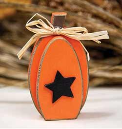 Pumpkin with Star Shelf Sitter