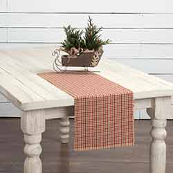 Jonathan Plaid Ribbed 36 inch Table Runner