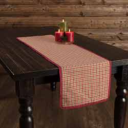 Jonathan Plaid Ruffled 48 inch Table Runner