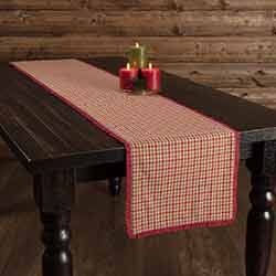 Jonathan Plaid Ruffled 72 inch Table Runner