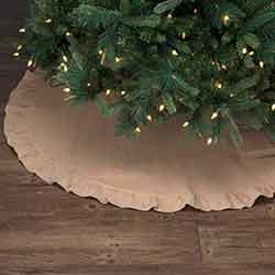 Jute Burlap Natural 48 inch Tree Skirt