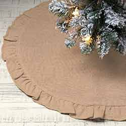 Jute Burlap Natural Mini 21 inch Tree Skirt