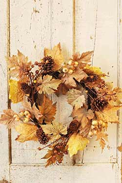 Brown & Gold Harvest Time Wreath
