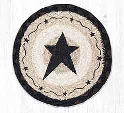 Primitive Black Star Round 7 inch Trivet