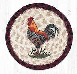 Rustic Rooster Round 7 inch Trivet