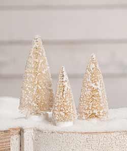 Small Winter Bottlebrush Trees (Set of 3)