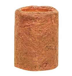 Orange Battery Pillar Candle - 4 x 3 inches
