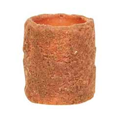 Orange Battery Pillar Candle - 2.25 x 2 inches