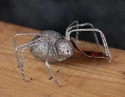Glittered Spider - Silver