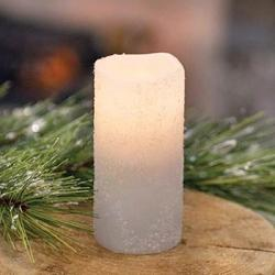 Frosty White Votive Candle with Timer - 2 x 4 inch