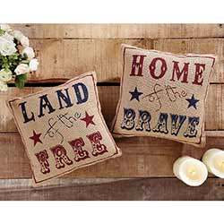 Land of the Free Pillows (Set of 2)