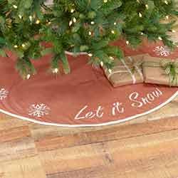 Let It Snow 48 inch Tree Skirt