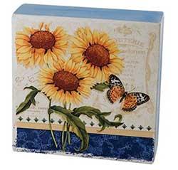 Sunflower & Butterfly Box Sign
