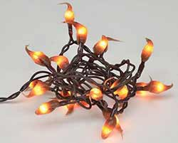 Cinnamon Silicone Dipped String Lights - 20 count