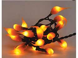 Cinnamon Silicone Dipped String Lights - 50 count