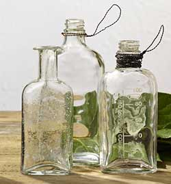 Glass Bottle Trio