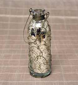 Mercury Glass Vase With Chicken Wire