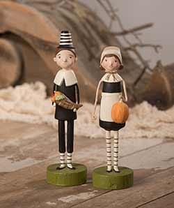 Harvest Pilgrim Couple (Set of 2)