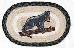 Bear Cub Printed Braided Oval Tablemat