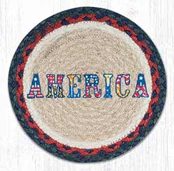 America Braided Tablemat - Round (10 inch)