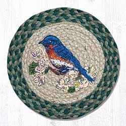 Blue Bird Braided Tablemat - Round (10 inch)