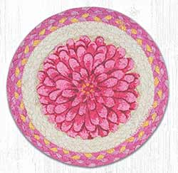 Boho Flower Braided Tablemat - Round (10 inch)
