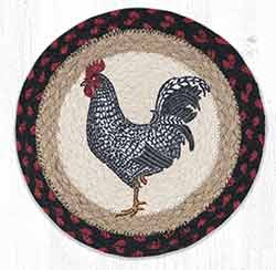 MSPR-602 Black & White Rooster 10 inch Tablemat