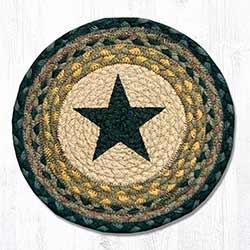 Black Star Braided Tablemat - Round (10 inch)