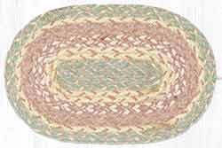 Rose Gold Braided Oval Tablemat