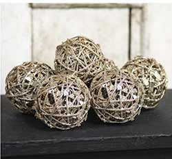 Glittered Grapevine Twig Balls​​​​​​​