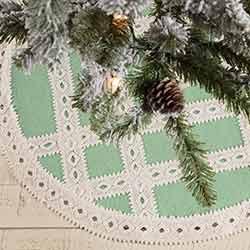 Margot Mint Mini 21 inch Tree Skirt