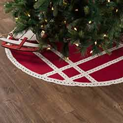 Margot Red 48 inch Tree Skirt