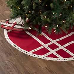 Margot Red 55 inch Tree Skirt