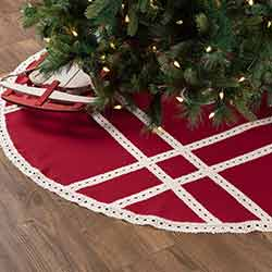 Margot Red 60 inch Tree Skirt