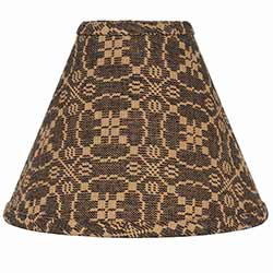 Marshfield Jacquard Black Lamp Shade - 10 inch