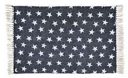 Multi Star Navy Cotton Rug - Rectangle