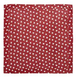 Multi Star Red Tabletopper/Tablecloth - 40 x 40