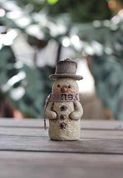 Natural Snowman Ornament